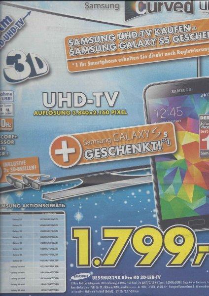 [Lokal?] Samsung UE55HU8290 Ultra HD 3D Curved + Galaxy S5