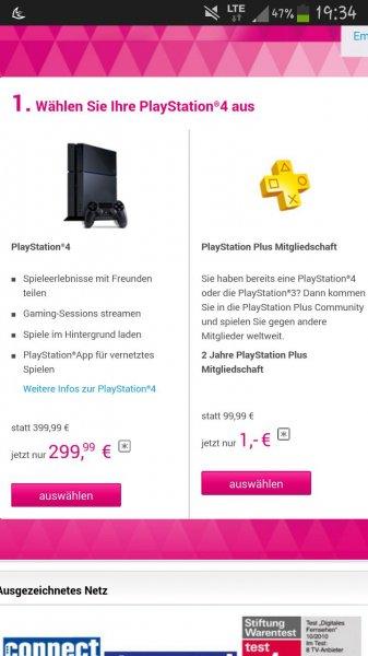 Playstation 4 500 gb + 1 Controller und 2jahre plus mitgliedschaft für 300€ für Privatkunden