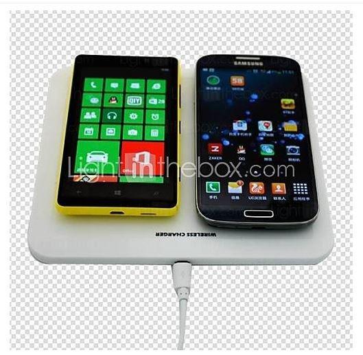 Abgelaufen  jinggangzuan ultradünnen Multi-Output-Platte Pad Wireless-Power-Ladegerät für mobile Geräte (weiß) für 19,19€ @miniinthebox.com