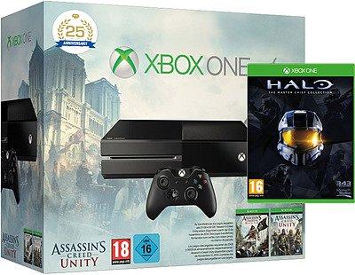 Xbox One 500GB schwarz Assassins Creed + Halo Set