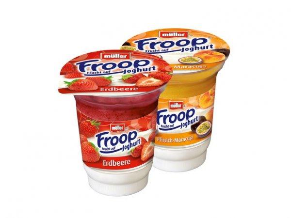 Froop Joghurt– Frucht auf Joghurt (Müller) am Super Samstag 6.12.2014 bei Lidl für 0,24 €