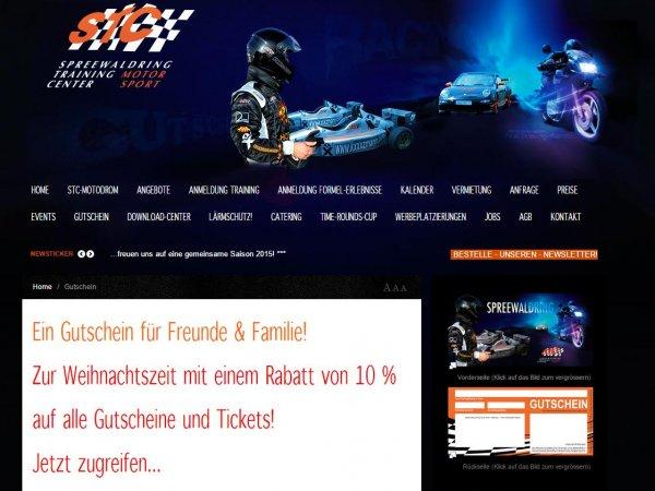 10% auf PKW- und Motorradtrainings und freies Fahren im STC Motodrom (Spreewaldring)