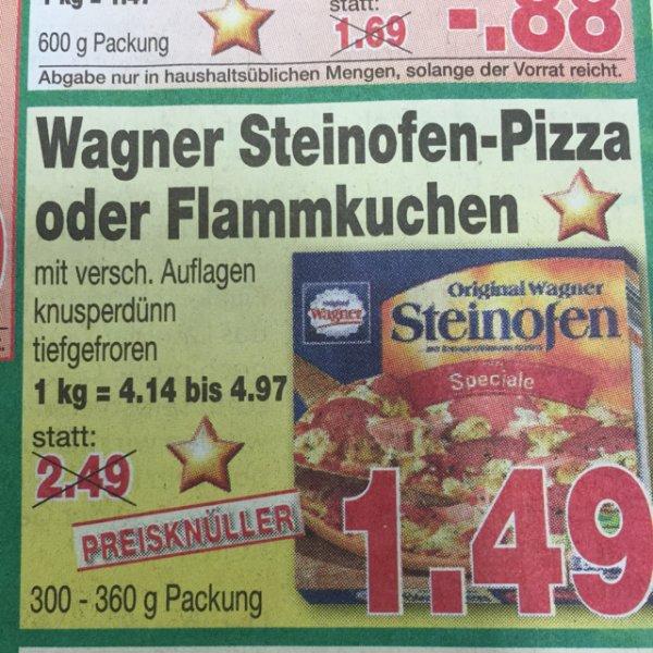 1,49€ Wagner Steinofen-Pizza oder Flammkuchen [Kaufpark] bis 6.12