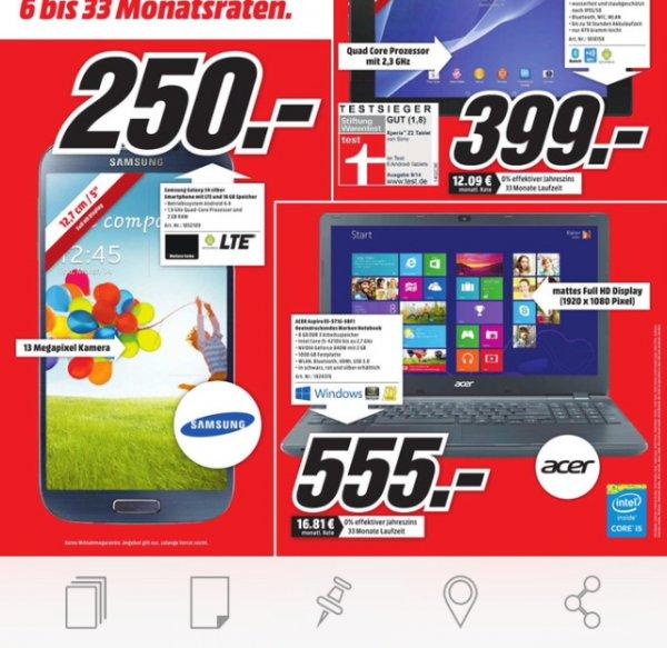 Samsung S4 250€! Media Markt Trier