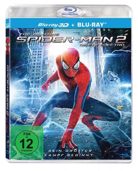 The Amazing Spider-Man 2: Rise of Electro (3D + 2D Version) [3D Blu-ray] für 12,97€ @Amazon.de