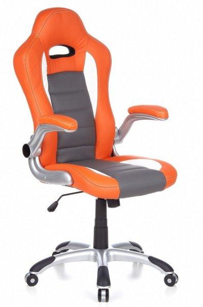 HJH OFFICE 621700 Drehstuhl / Bürostuhl RACER SPORT orange / weiss für 89,90€
