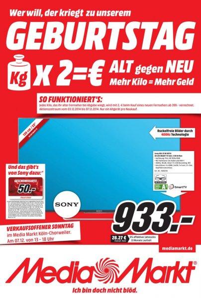 (lokal Media Markt Köln Chorweiler ) TV Alt gegen Neu Aktion + Sonos Play 1 166€