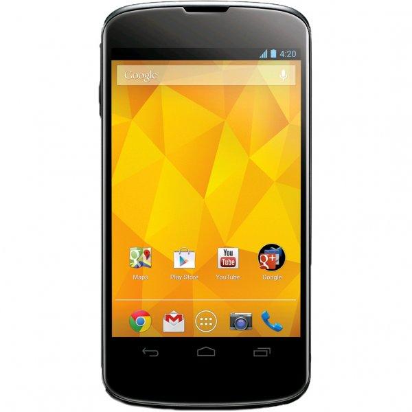 Google Nexus 4 + Bumper Generalüberholt,16 GB, Schwarz