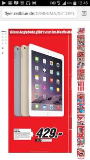 [lokal Worms Media Markt] Ipad Air 2 16GB WiFi 429€