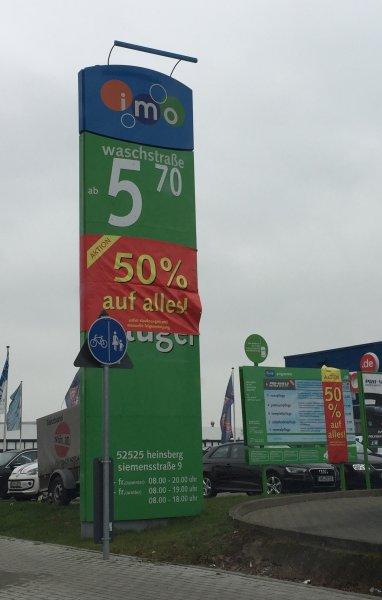 [Lokal Heinsberg] imo Waschstraße 50 % auf Autowäsche