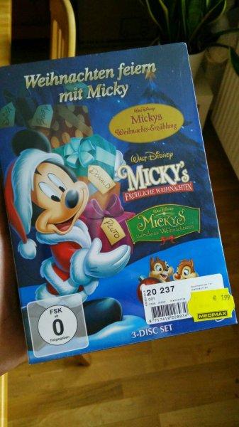 """medimax """"Weihnachten feiern mit Micky"""" [3 DVDs] 7,99€"""