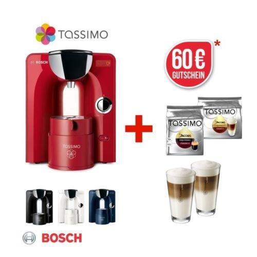 Bosch Tassimo Charmy + 60 € Gutschein + 2 Gläser (WMF) + 2 Packungen Kaffee