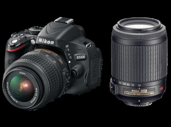 NIKON D5100+18-55mm VR+55-200mm VR