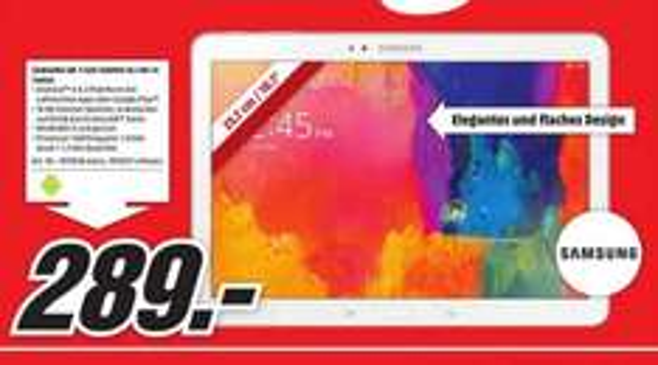 Samsung Galaxy Tab Pro 10.1 16GB WiFi für 289€ LOKAL @ Mediamarkt Neuss
