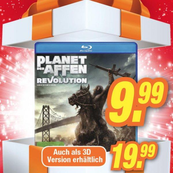 Planet der Affen - Revolution [Blu-ray] für 9,99 Euro und als 3D Version für 19,99 Euro [lokal]