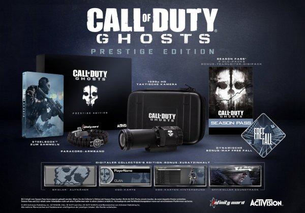 Call of Duty: Ghosts (100% uncut) Prestige Edition PS4 für 54,97 Euro @Amazon.de