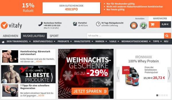 15% bei Vitafy.de auf alle Produkte*