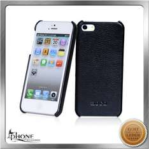 50% Rabatt auf Business iPhone 5 / 5s Luxus echt Leder Schutzhülle schwarz