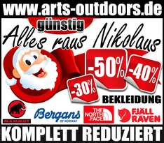 Nikolaus Rabattaktion auf www.arts-outdoors.de