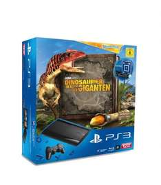 PS3 Slim 12 GB incl. Wonderbook Dinosaurier Land der Giganten