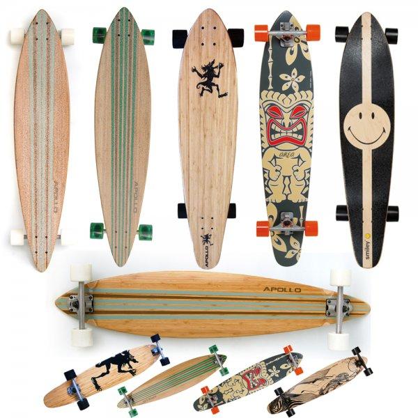 Longboards 89,99€  statt 119,90€  5 verschiedene Designs von Apollo