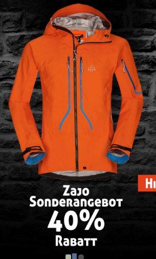 40% Rabatt bei ZAJO (slowakische Outdoor-Brand)