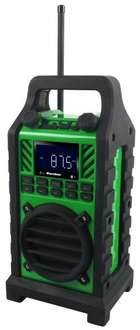 Bluetooth Baustellenradio Outdoor PLL Radio FM USB SD MP3 AUX @ Ebay