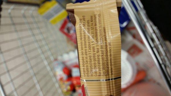 Gratis small Cappucino bei McCafe beim Kauf von einer Rolle Giotto