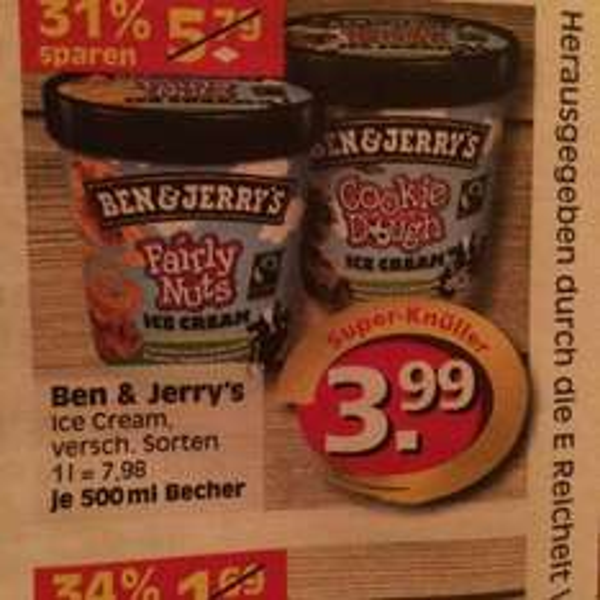 Lokal Berlin Edeka Reichelt Ben&Jerry Ice Cream € 3,99