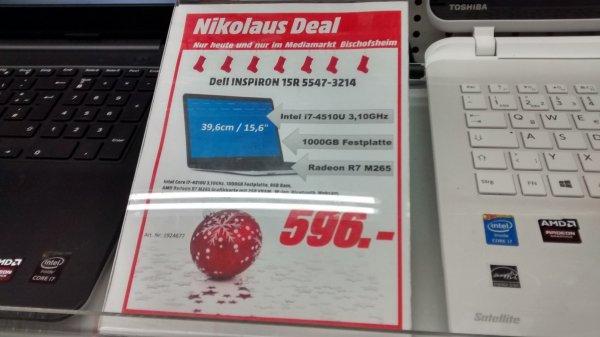 Dell INSPIRON 15R 5547-3214 i7/1000GB/8GB Ram @ Mediamarkt Bischofsheim (Lokal)