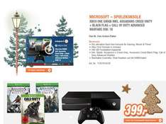 MICROSOFT Xbox One 500GB inkl. Assassin's Creed Unity + Assassin's Creed BlackFlag + Call of Duty Advanced War für 399€ @ expert