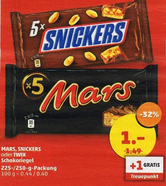PENNY - Berlin 5er Packung MARS SNICKERS TWIX für 1,00 € = 32% gespart + 1 Treuepunkt GRATIS