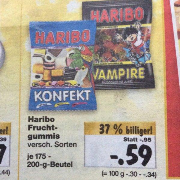 0,59€ Haribo verschiedene Sorten 175 - 200gr [Kaufland] ab 08.12.