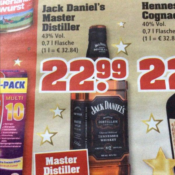 22,99€ Jack Daniel's Master Distiller No.2  0,7l 43% [TrinkGut] ab 08.12.