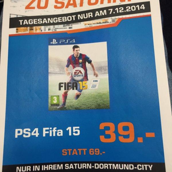 [Lokal Saturn Dortmund City] FIFA 15 PS4 für 39€, nur morgen am 07.12