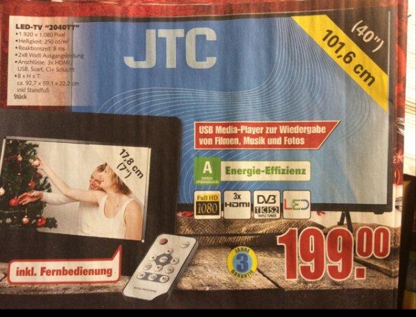"Neu eingestellt, weil Beschreibung versaut... undesweit! Edeka: JTC 40"" TV fullHD triple Tuner"