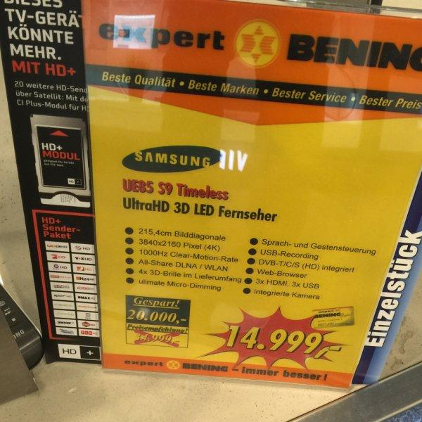 Samsung UE 85 S9 Timeless Expert Bening lokal Wilhelmshaven