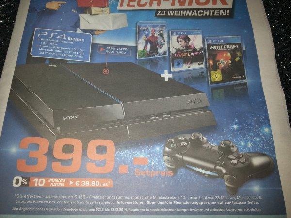 PS4 inkl. 2 Spielen und einer Blu-ray