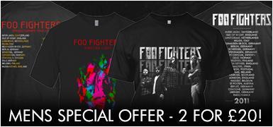 Foo Fighters Tourshirts im Angebot!