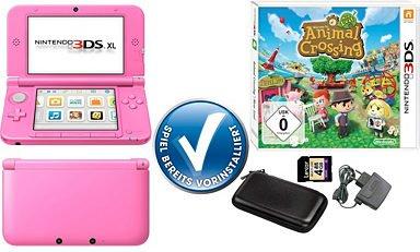 Nintendo 3DS XL + Animal Crossing + Tasche + Netzteil + SD Karte + 3 J. Garantie