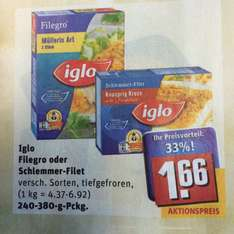 (Rewe City) Iglo Filegro und Schlemmer-Filet