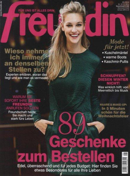 """6x Zeitschrift """"Freundin"""" mit 15€ Amazon Gutschein bei 16,60€ Abokosten"""