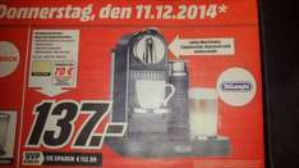 Nespresso Delonghi EN 266 für 67€