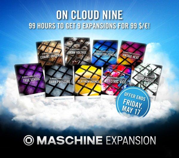 """Native Instruments Maschine Expansions """"Cloud 9 Bundle"""" für 99€"""