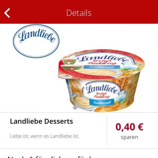 Landliebe Pudding/ Grieß dank Scondoo 4ct bei Edeka