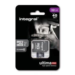 "Integral™ - 32GB microSDHC-Speicherkarte ""UltimaPro"" (UHS-I/Class 10,inkl. SD-Adapter) für €10,79 [@Mymemory.de]"