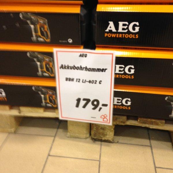 AEG akku Bohrhammer 12v 4Ah lokal Bauhaus München