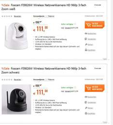 Foscam IP Kamera FI9826W black & white
