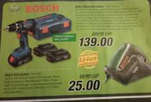 Bosch blau GSR 18-2 LI + 3 x 1,5 Ah + L-Boxx (evtl. nur 119,00) [lokal MS] ab 11.12. @ Marktkauf