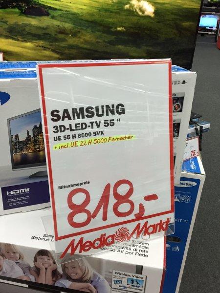 [Lokal MM Fulda, Hessen] Samsung UE55H6600 SVX für 818 Euro plus UE22H5000